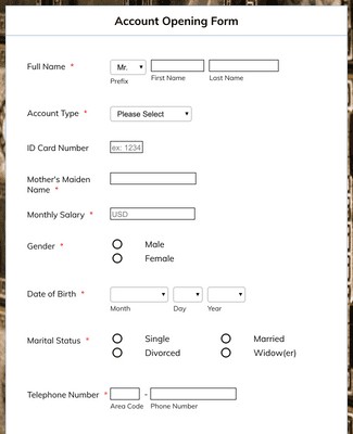Account Opening Form