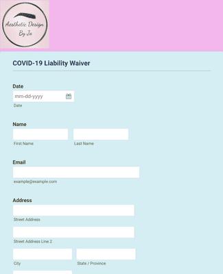 Beauty Salon COVID-19 Liability Waiver