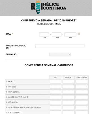 Check List sobre o Estado dos Caminhões