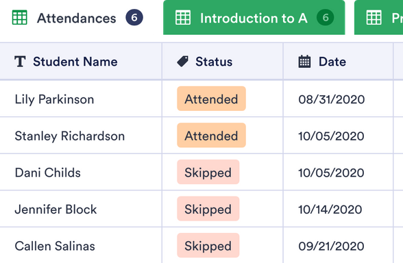 Class Attendance Sheet