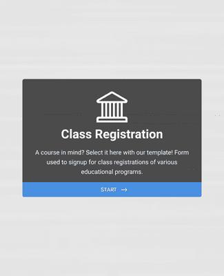 Course Registration Form