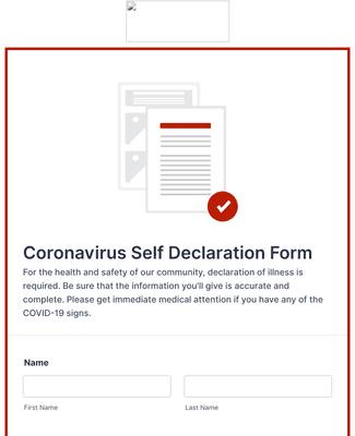 Clone Of Coronavirus Self Declaration Form Template Jotform