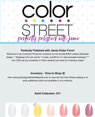 Color Street Current Inventory