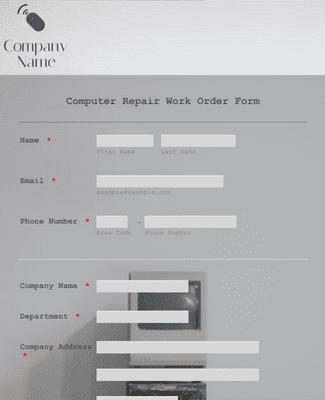 Computer Repair Work Order Form