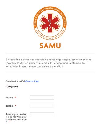 Concurso público SAMU