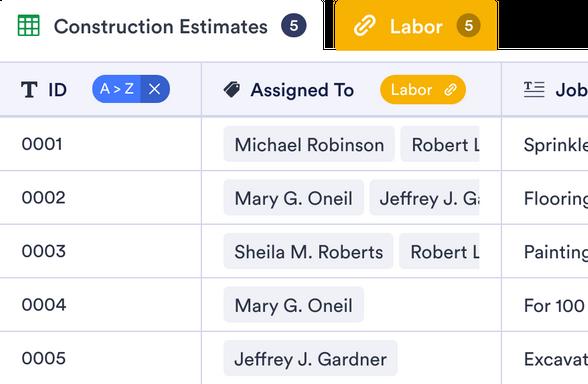 Roofing Estimate Template Jotform Tables