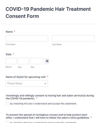 COVID-19 Salon Company Consent Form