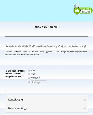 Datei-Upload für VBA VBS VB NET Schulung