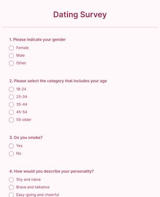 Dating Survey