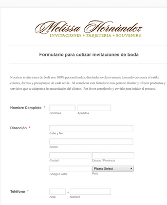 Diseño y cotizacion de invitaciones para boda