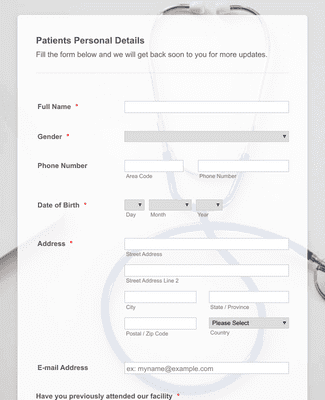 Online Doctor Appointment Form