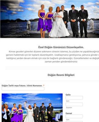 Düğün Etkinlik Organizatör Formu