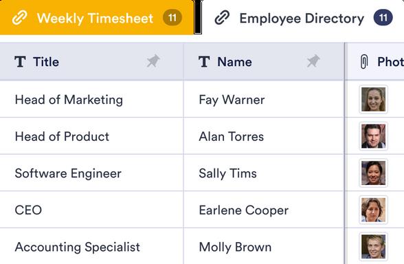 Recruitment Tracker Template Jotform Tables