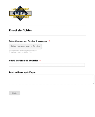 French Upload Form