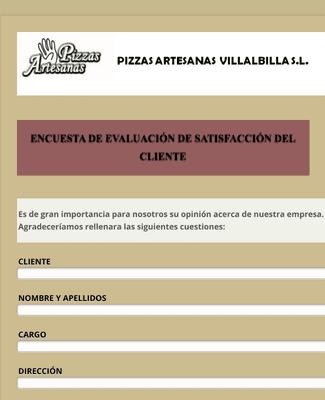 Evaluación de Satisfacción del Cliente de Restaurante
