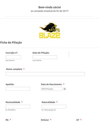 Ficha de Filiação de Associação