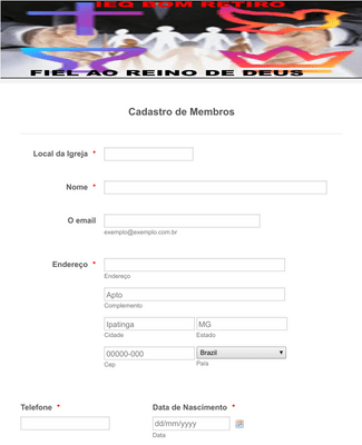 FICHA DE MEMBRO
