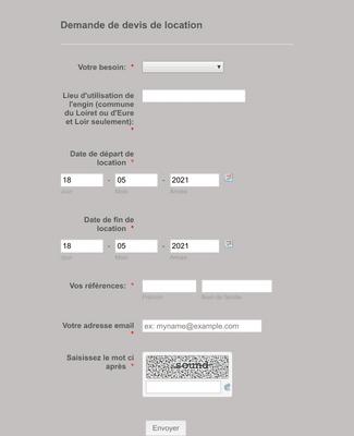 Formulaire de Demande de Devis de Location
