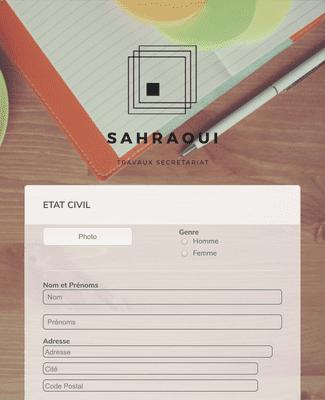 Formulaire de dépose de CV Sahraoui