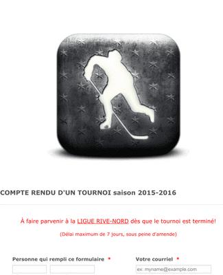 Formulaire de rapport de tournoi