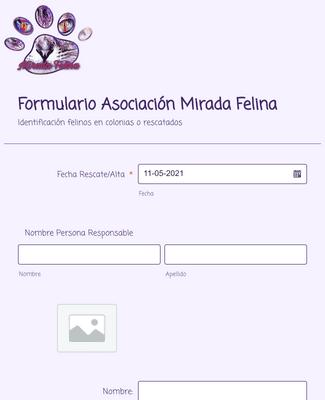 Formulario Asociación Mirada Felina