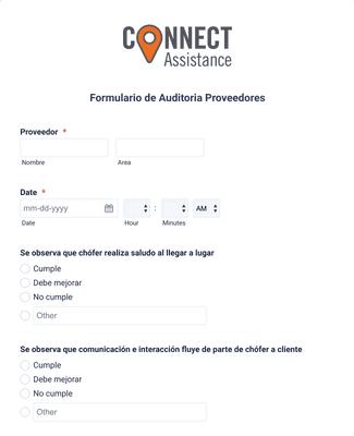Formulario de Auditoría Proveedores