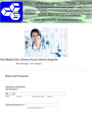 Formulario de Citas Medicas