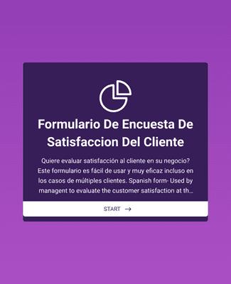 Formulario Encuesta de Satisfacción al Cliente