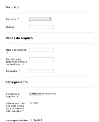 Formulário de envio de arquivo