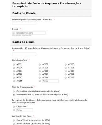 Formulário de Envio de Arquivos
