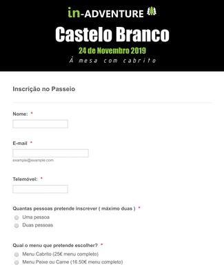 Formulário de Inscrição em Passeio