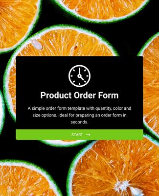 Formulario de Pedido de Producto