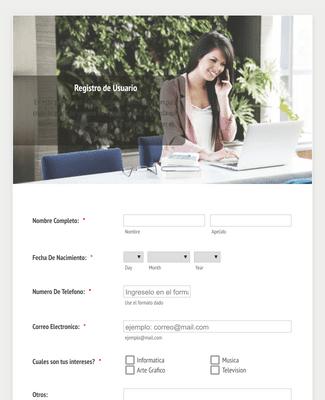 Formulario de Registro de Datos de Usuarios