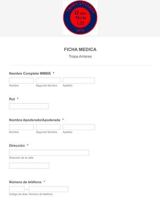Formulario de Registro de Ficha Médica