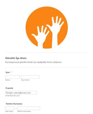 Gönüllü İşe Alım Formu