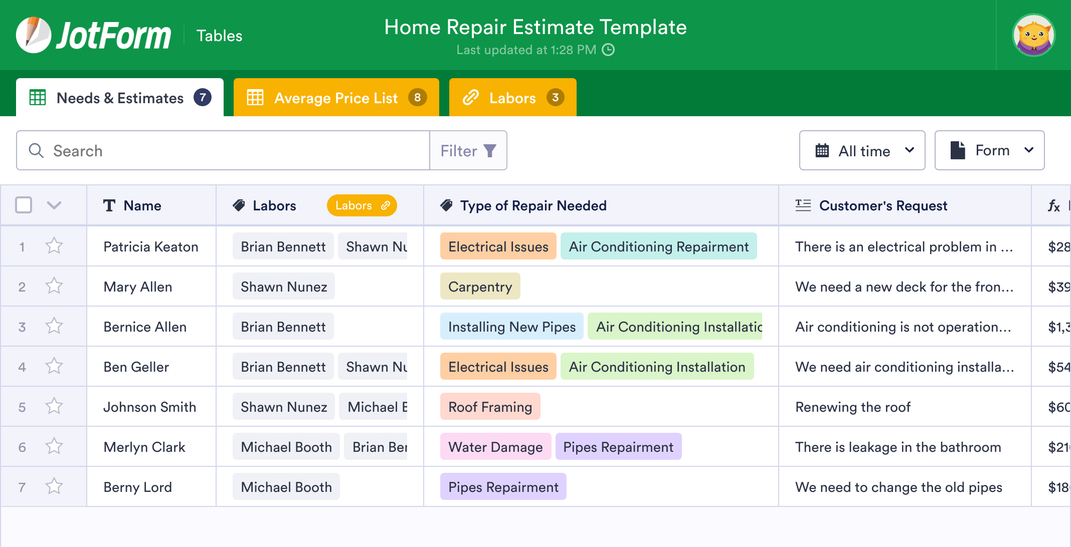 Home Repair Estimate Template