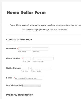 House Seller Form