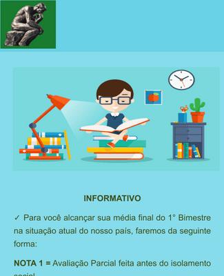 INFORMATIVO E ROTEIRO DE ESTUDO 6°Ano