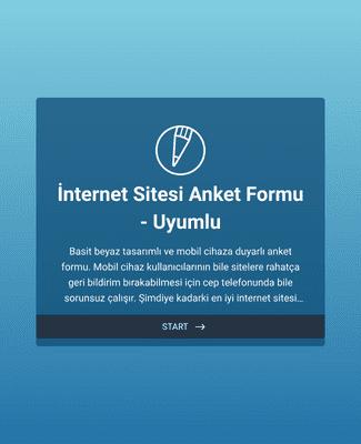 İnternet Sitesi Anket Formu - Uyumlu