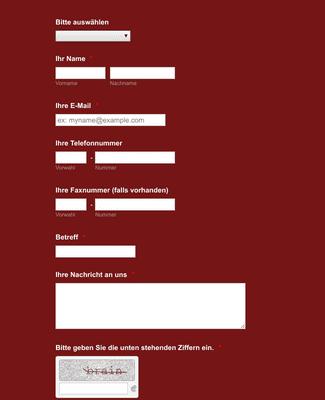 Kontaktformular auf Deutsch