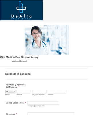 Medical Appointment Form in Spanish