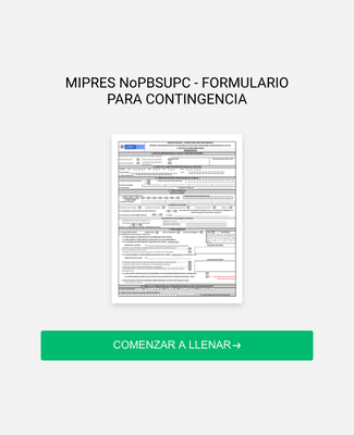 MIPRES NoPBSUPC - FORMULARIO PARA CONTINGENCIA