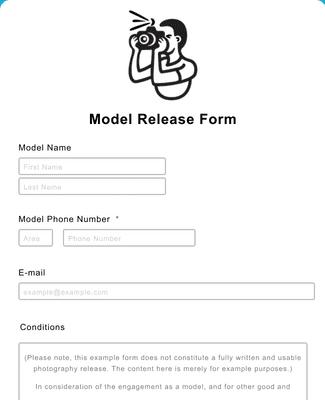 Model Release Form