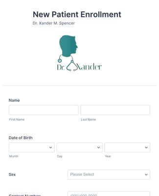 New Patient Enrollment Form