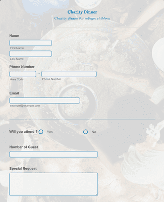 Non-Profit Dinner RSVP Form