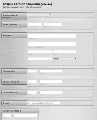 Novo formulário de membro
