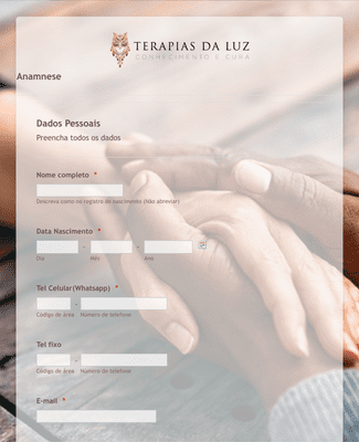 Patient Intake Form in Portuguese