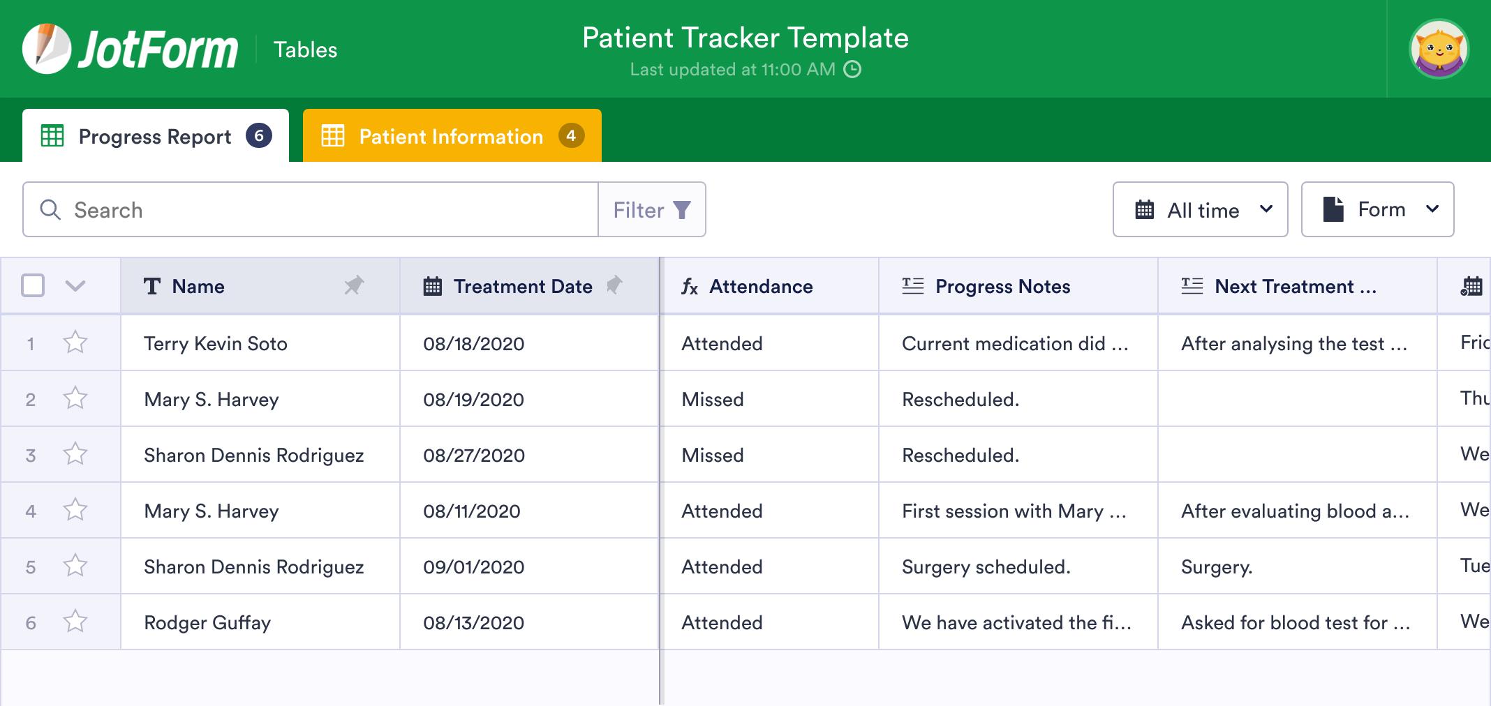 Patient Tracker Template