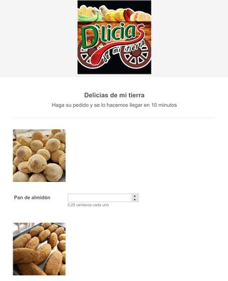 Patisserie Order Form in Spanish