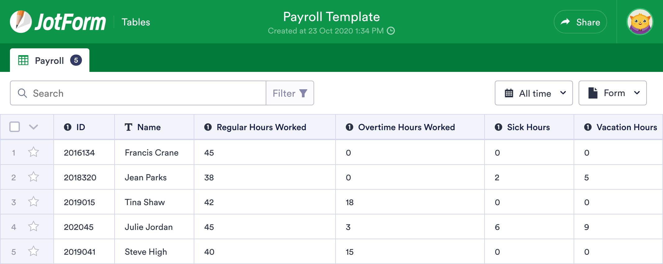 Payroll Template